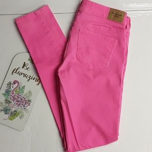 Abercrombie & Fitch》Bright Pink Skinny Jeans 2R